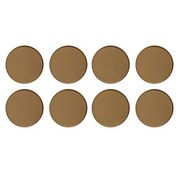 B&Q Brown Plastic Self Adhesive Glide (Dia)25mm, Pack