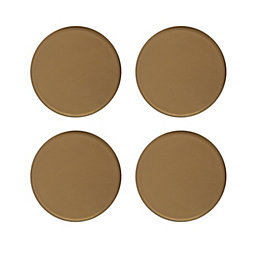 B&Q Brown Plastic Self Adhesive Glide (Dia)34mm, Pack