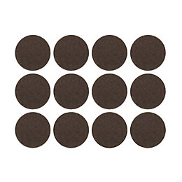 B&Q Brown Felt Self Adhesive Pad Protector (Dia)22mm,