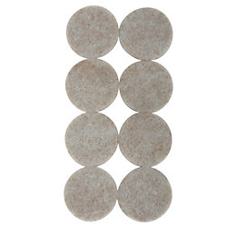 B&Q Cream Felt Self Adhesive Pad Protector (Dia)25mm,