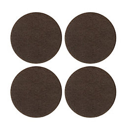 B&Q Brown Felt Self Adhesive Pad Protector (Dia)34mm,