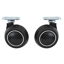 B&Q Plate Fitting Swivel Castor, Pack of 2
