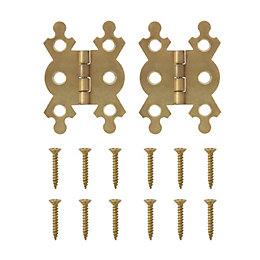 B&Q Brass Effect Butterfly Hinge (W)38mm