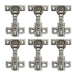 Nickel Effect Metal Concealed Hinge, Pack of 6