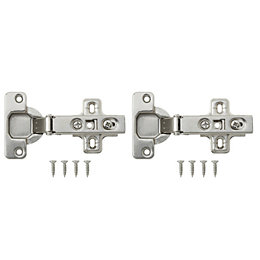Nickel Effect Metal Sprung Concealed Hinge, Pack of