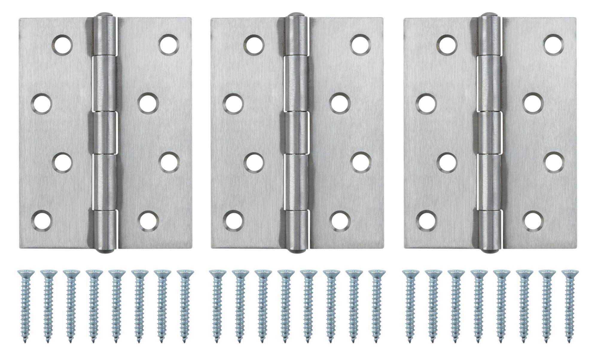 Stainless Steel Butt Hinge, Pack Of 3