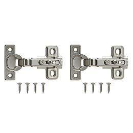 Nickel Effect Metal Unsprung Concealed Hinge, Pack of