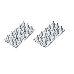 B&Q Zinc Timber Connector, Pack of 4