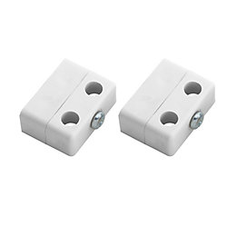 B&Q White Polypropylene Locking Joint (L)36mm, Pack of