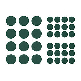 B&Q Green Felt Self Adhesive Feet (Dia)12mm, Pack