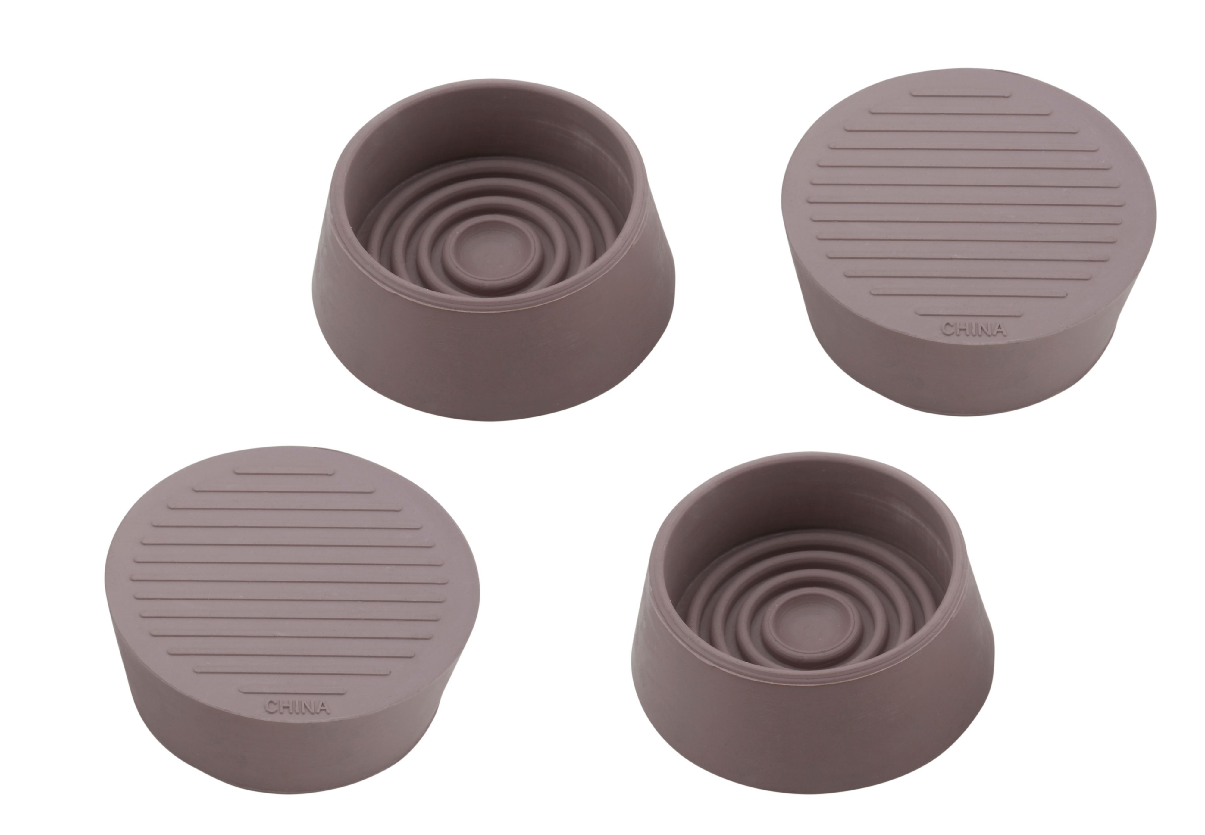 B Amp Q Brown Plastic Castor Cup Dia 45mm Pack Of 4