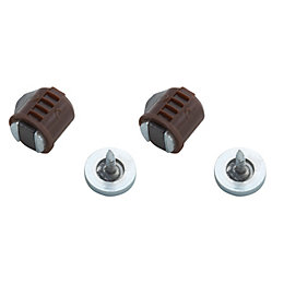 B&Q Brown Magnetic Catch, Pack of 2