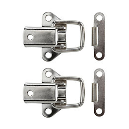 B&Q Nickel Effect Toggle & Plate Catch, Pack