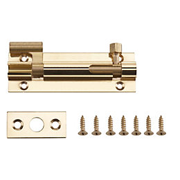 B&Q Brass Barrel Bolt (L)76mm