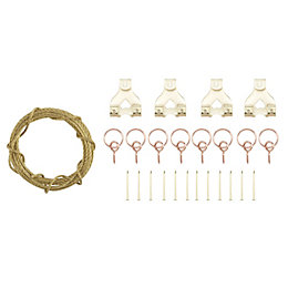 B&Q Brass Effect Picture Hanging Kit