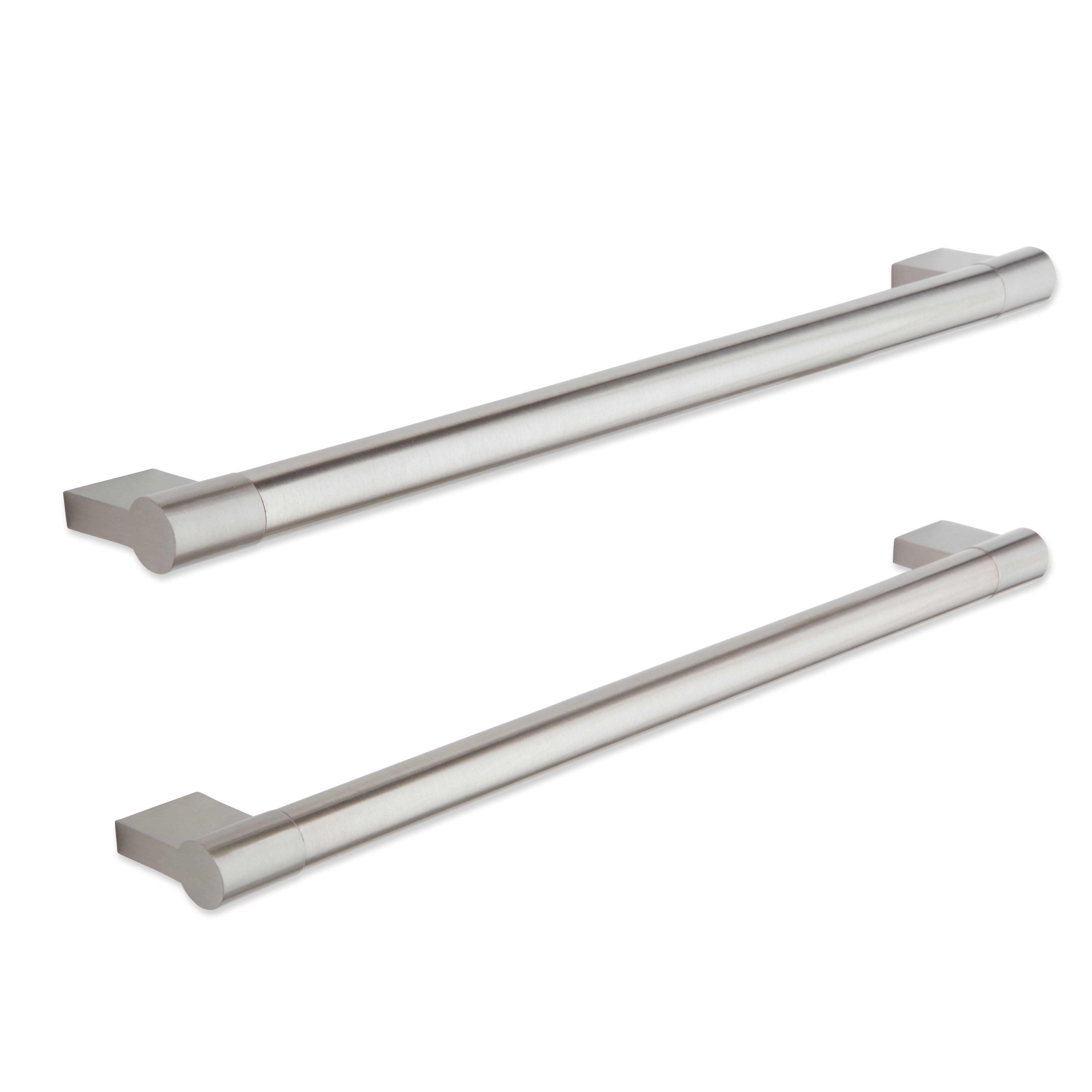It Kitchens Brushed Nickel Effect Straight Cabinet Handle, Pack Of 2