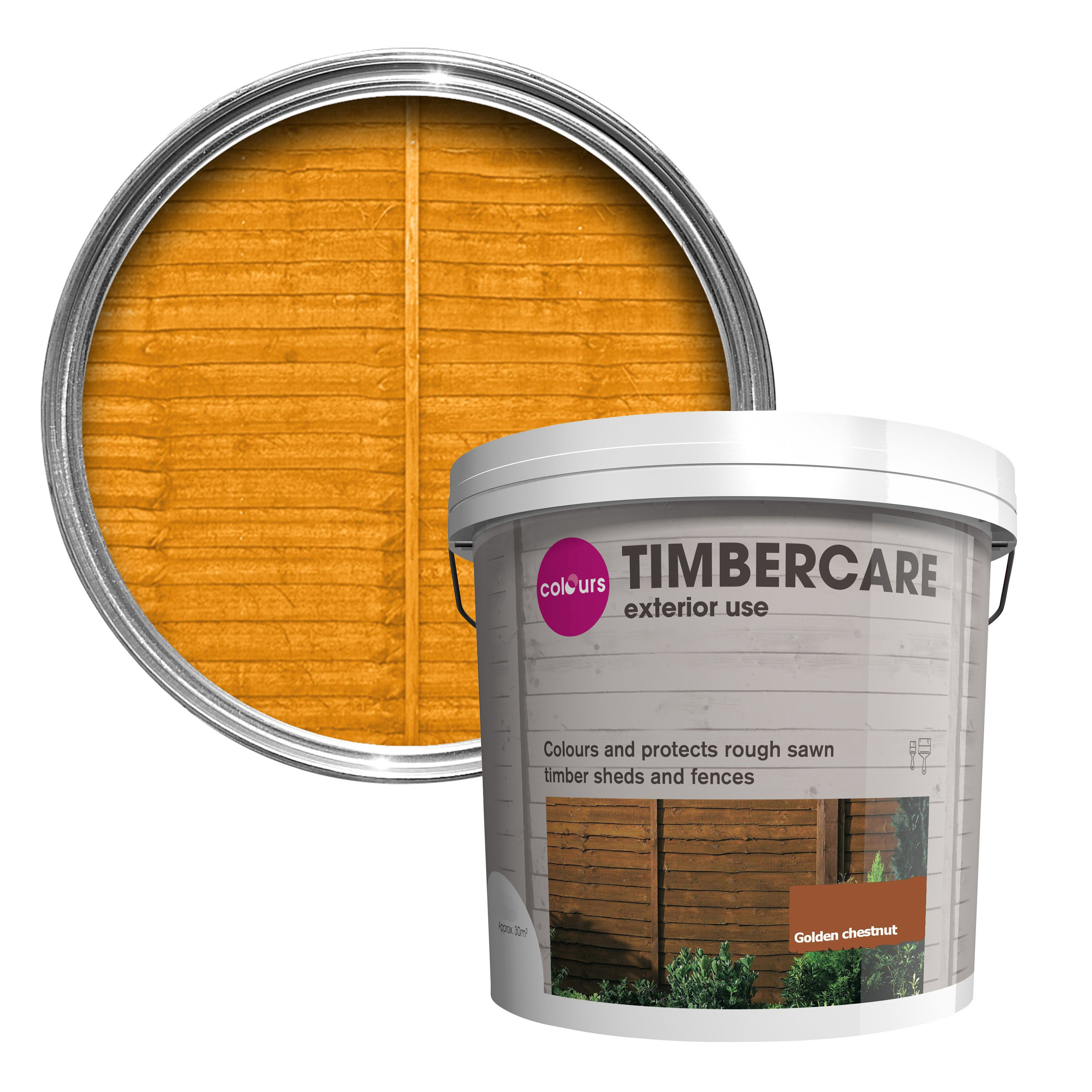 Colours Timbercare Golden Chestnut Satin Shed Amp Fence