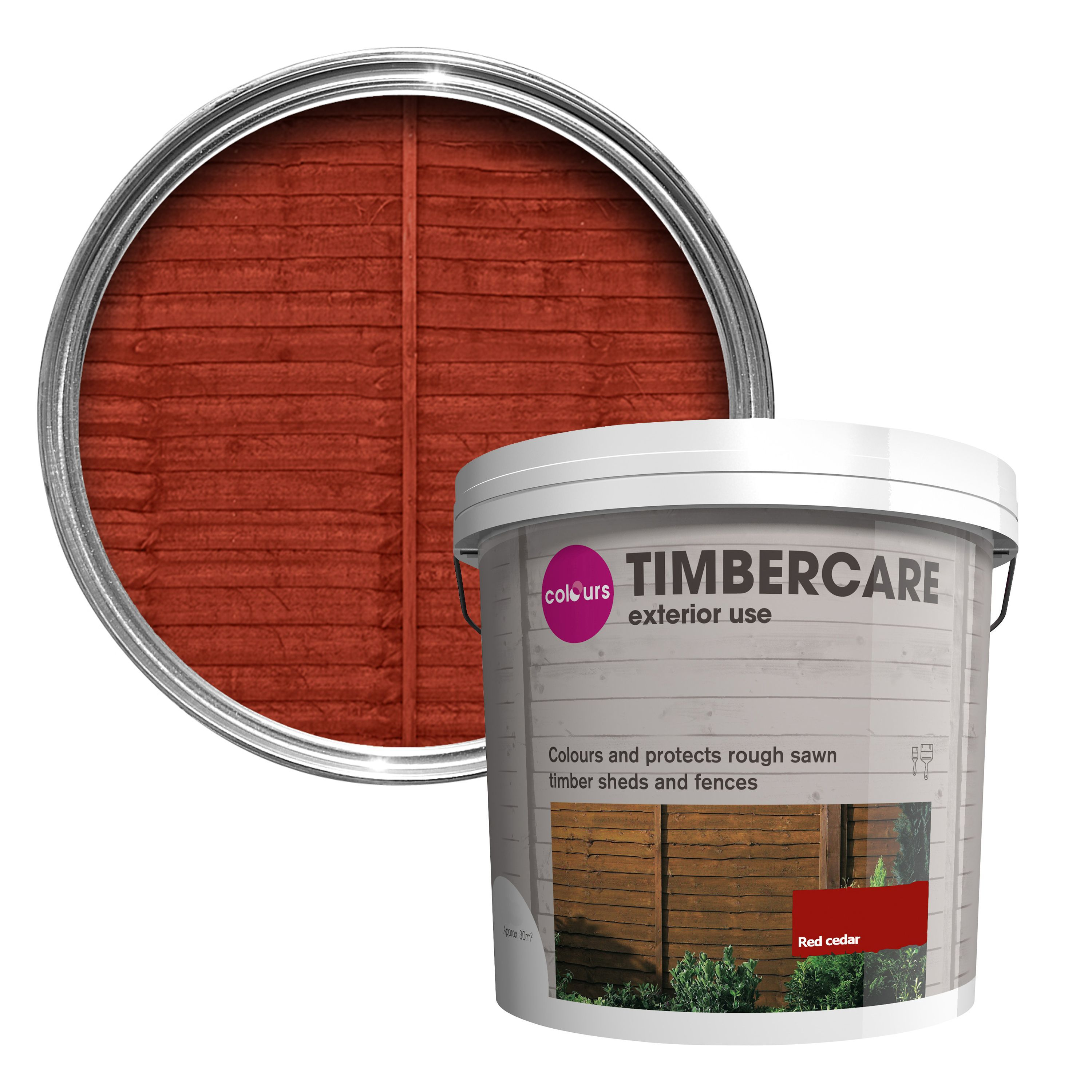 Colours timbercare red cedar shed fence stain 9l departments colours timbercare red cedar shed fence stain 9l departments diy at bq baanklon Gallery