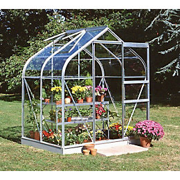 B&Q 6X4 Toughened Safety Glass Greenhouse