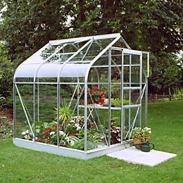 B&Q Metal 6X6 Toughened Safety Glass Greenhouse