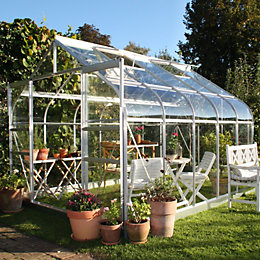 B&Q 8X10 Toughened Safety Glass Greenhouse