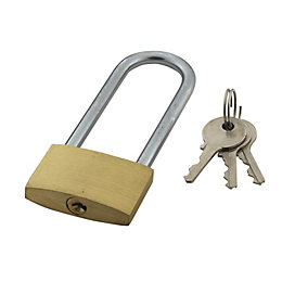 Brass & Steel 4-Pin Tumbler Open Shackle Padlock