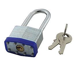 B&Q Steel 4-Pin Tumbler Padlock (W)40mm