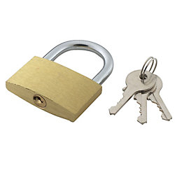 Brass & Steel 4-Pin Tumbler Open Shackle Padlock