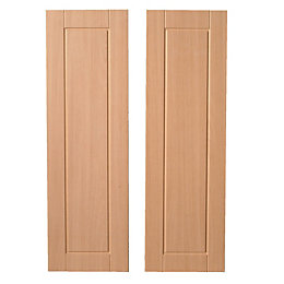 IT Kitchens Chilton Beech Effect Larder Door (W)300mm,
