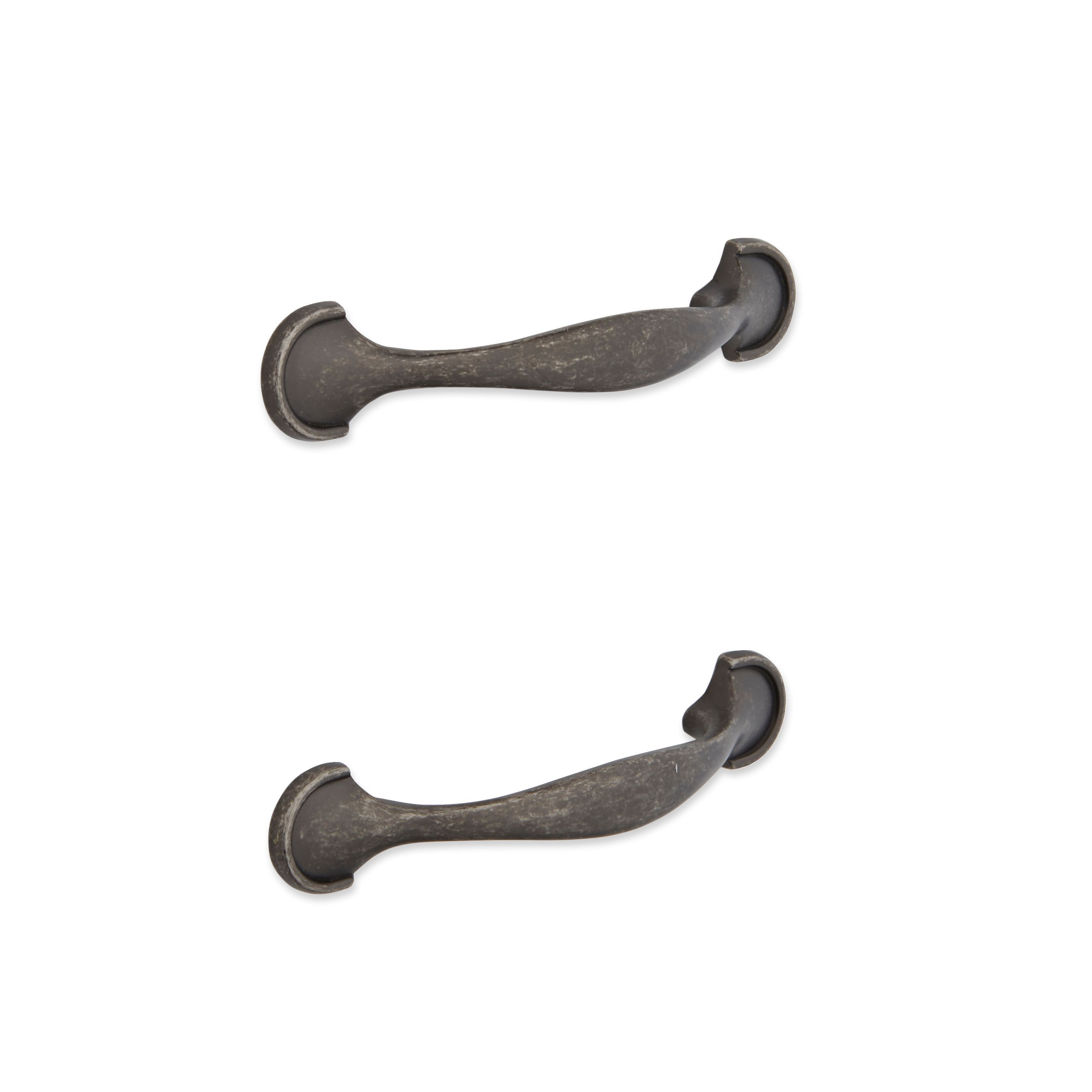 It Kitchens Pewter Effect Curved Cabinet Handle, Pack Of 2
