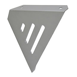 B&Q Matt Stainless Steel Effect Steel Shelf Bracket