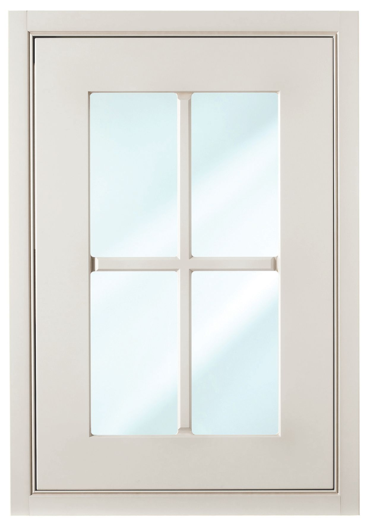 Cooke & Lewis Woburn Framed Ivory Glazed Door (w)500mm