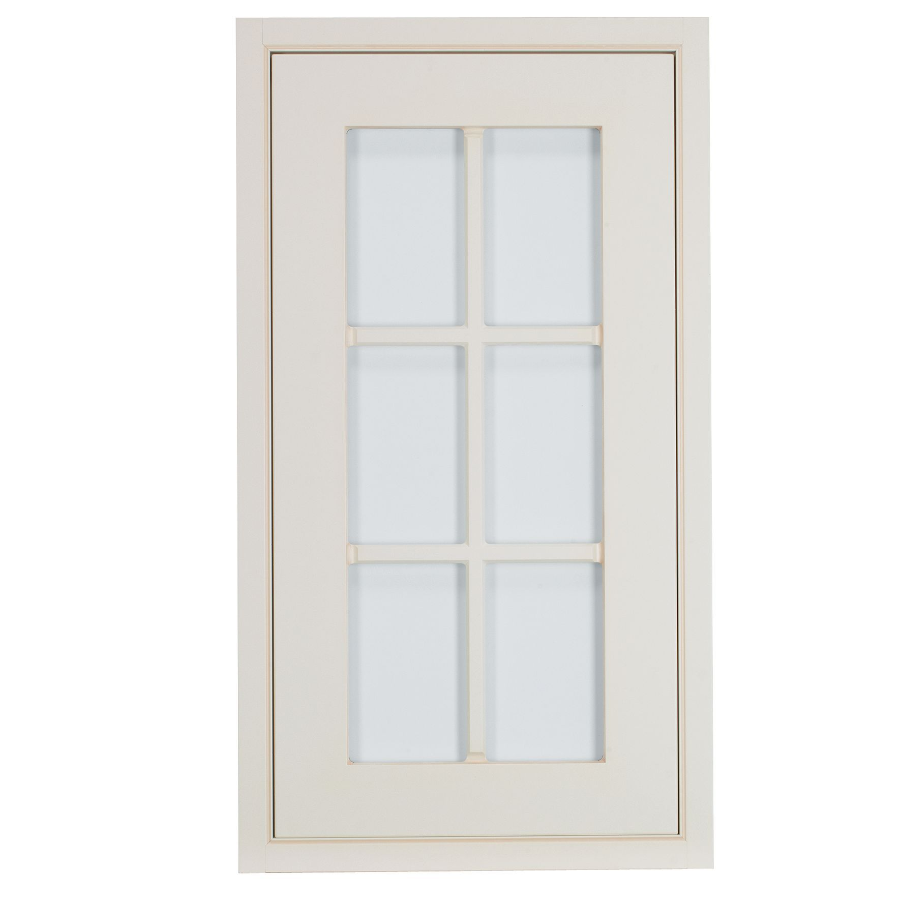 Cooke & Lewis Woburn Framed Ivory Tall Glazed Door (w)500mm
