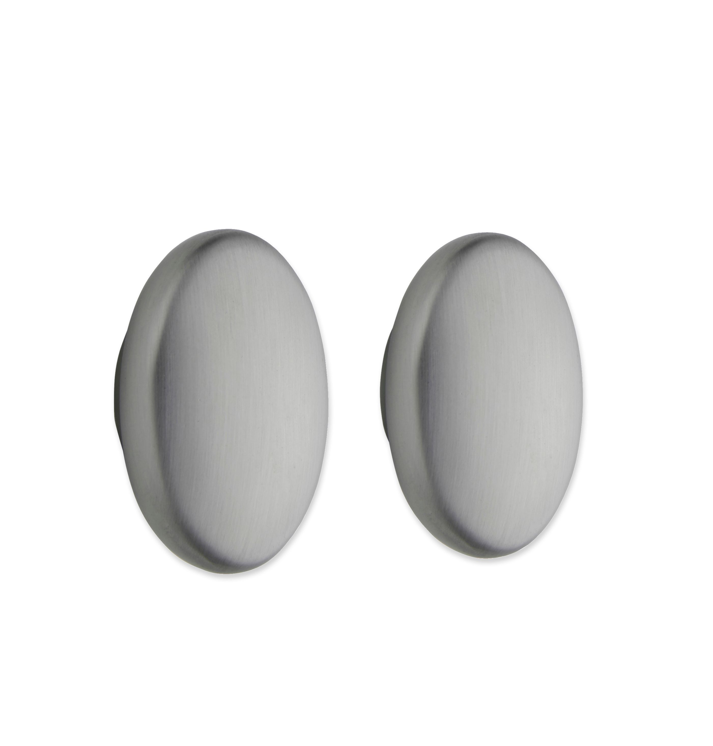 Cooke & Lewis Stainless Steel Effect Oval Oval Cabinet Knob, Pack Of 1