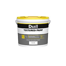 B&Q Pure White Textured Matt Masonry Paint 5L