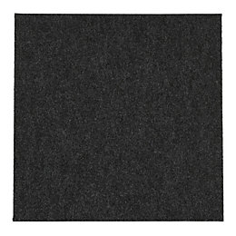 B&Q Grey Carpet Tile, Pack of 10