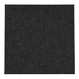 B&Q Grey Carpet Tile, Pack of 10