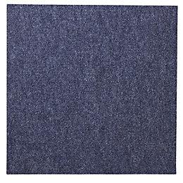 B&Q Blue Carpet Tile, Pack of 10