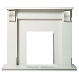 Victoria Cream Micro Marble Fire Surround Set