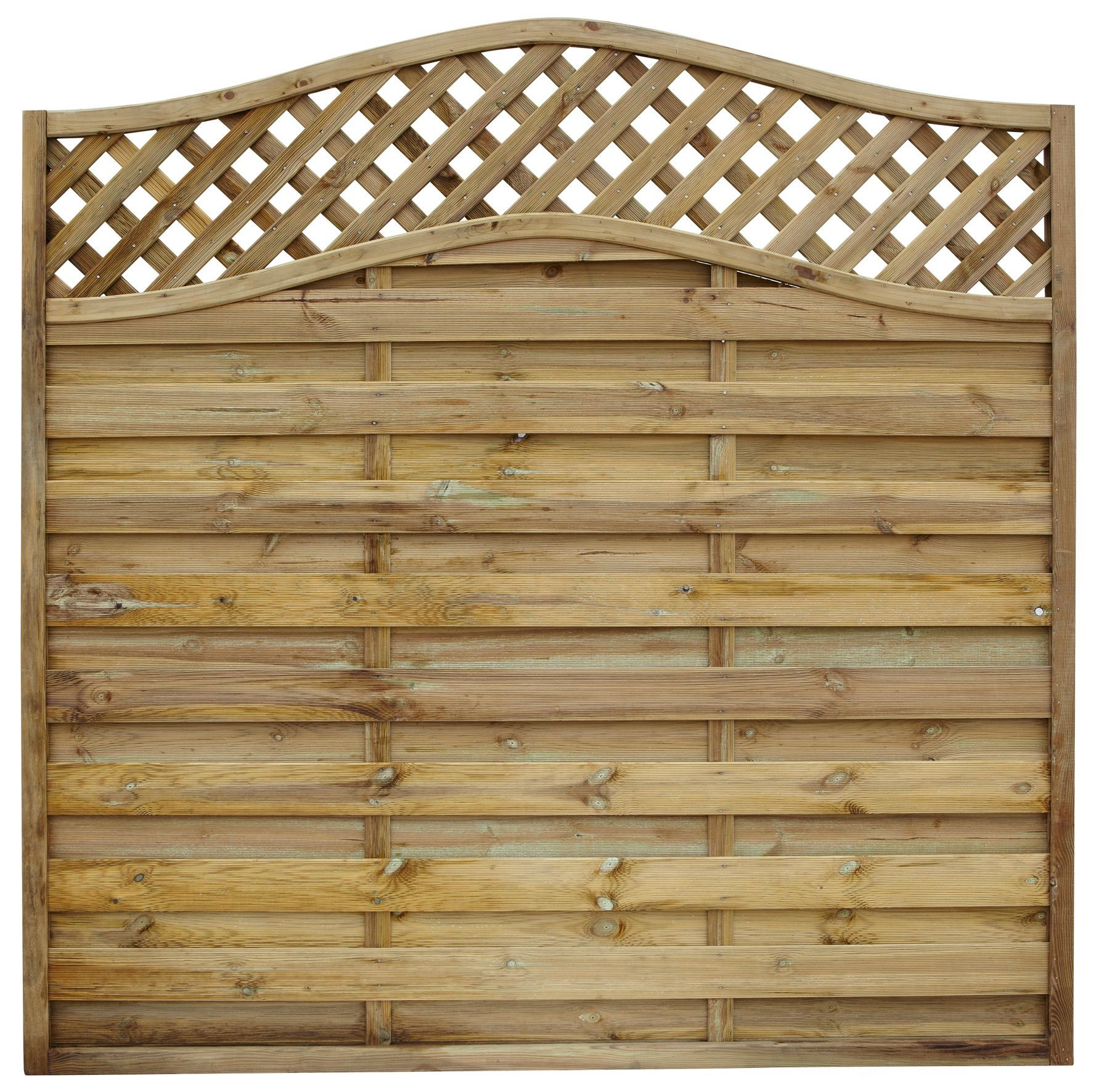 Grange Woodbury Premium Slatted Fence Panel W 1 8 M H 1