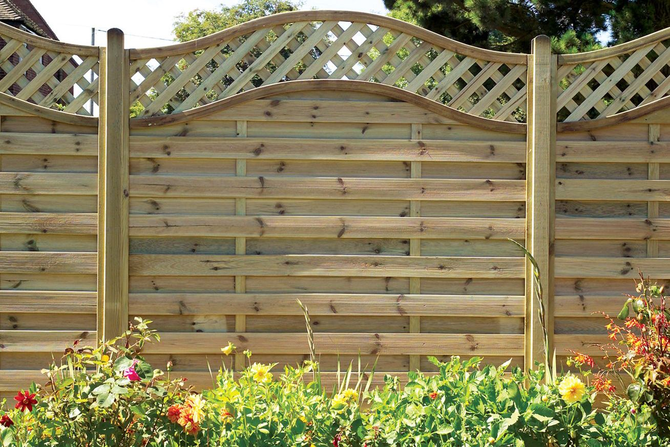 Build A Garden Trellis How To Put Up A Panel Fence Ideas Amp Advice Diy At B Amp Q