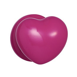 B&Q Pink Heart Internal Mortice Knob, Pack of