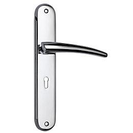 B&Q Polished Chrome Effect Curved Lock Bath Handle,