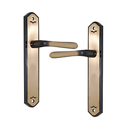 Antique Brass Effect Internal Straight Latch Door Handle,