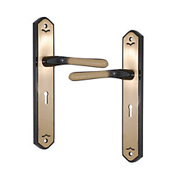 Antique Brass Effect Internal Straight Lock Door Handle,