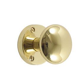 B&Q Core Oval Door Knob, Set of 1