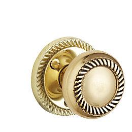B&Q Brass Effect Round Internal Door Knob, Pack
