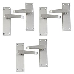 Satin Stainless Steel Effect Internal Straight Latch Door
