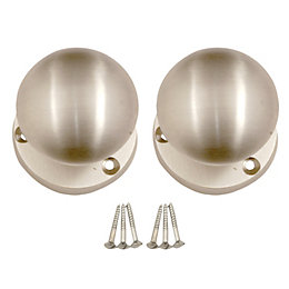 B&Q Value Nickel Effect Round Internal Mortice Knob,