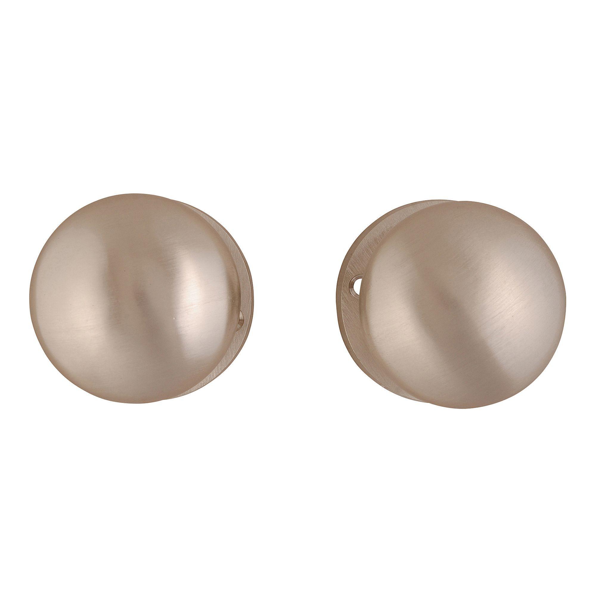 Door >> Satin Nickel Effect Internal Round Latch Door Knob, 1 Set | Departments | DIY at B&Q